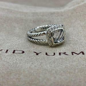 David Yurman Petite Albion  White Topaz & Diamonds